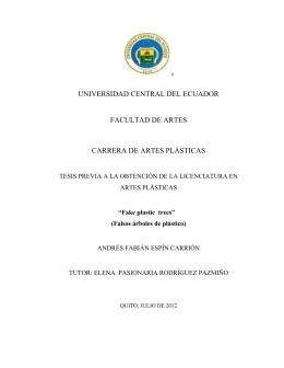 universidad central del ecuador facultad de artes carrera de artes