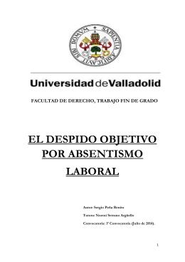 EL DESPIDO OBJETIVO POR ABSENTISMO LABORAL