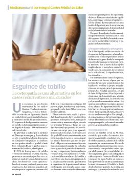 Esguince de tobillo - Integral Centre Mèdic i de Salut