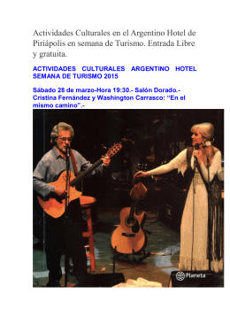 Actividades Culturales en el Argentino Hotel de Piriápolis en