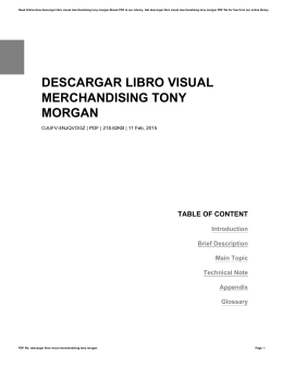 DESCARGAR LIBRO VISUAL MERCHANDISING TONY MORGAN