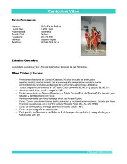 CV de Paula - VooDoo Dancers