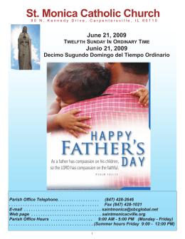 June 21, 2009 - St Monica Parish
