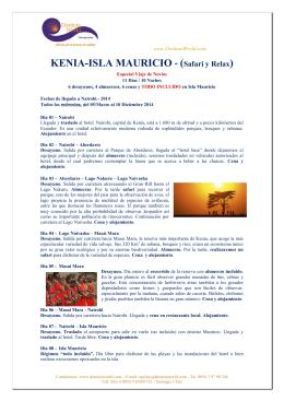 KENIA-ISLA MAURICIO - (Safari y Relax)