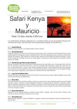 Safari Kenya y Mauricio
