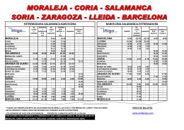 EXTREMADURA-SALAMANCA-BARCELONA BARCELONA