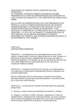 reglamento de transito para el municipio de leon, guanajuato