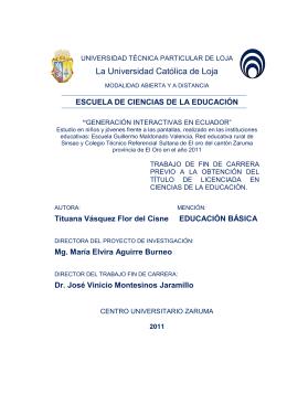 La Universidad Católica de Loja