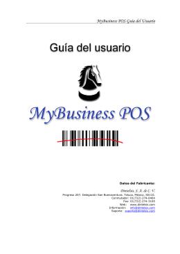 MyBusiness POS Guía del Usuario