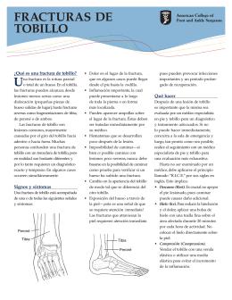 Fractura de tobillo - Austin Regional Clinic