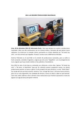 2014: LAS MEJORES PRODUCCIONES