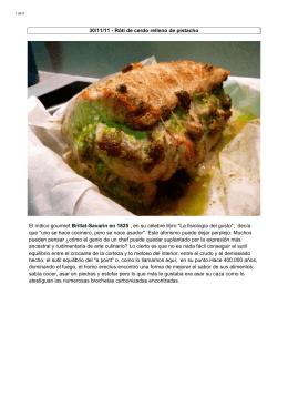 Rôti de cerdo relleno de pistacho