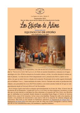 EQUINOCCIO DE OTOÑO - Los Egiptos de Adina