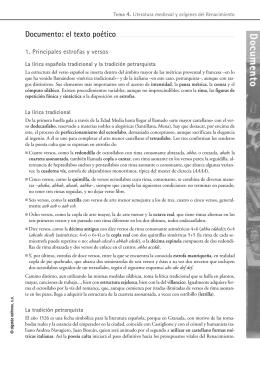Recursos didacticos Tema 4. Literatura Universal 2