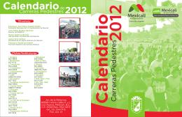 Calendario Carreras Pedestres2012