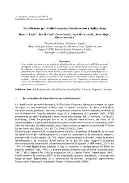 Identificación por Radiofrecuencia: Fundamentos y