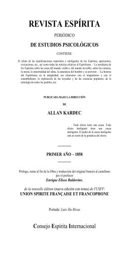 Revista Espírita (1858 - Federación Espírita Española