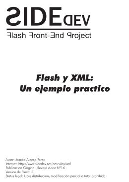 Articulo Flash – XML