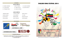 ENGLISH SONG FESTIVAL 2014