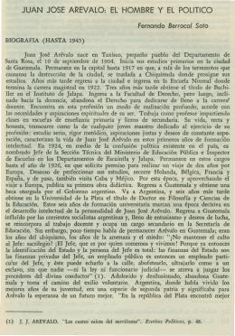 Juan José Arévalo: el hombre y el político