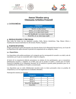 Anexo Técnico 2014 Gimnasia Artística Femenil