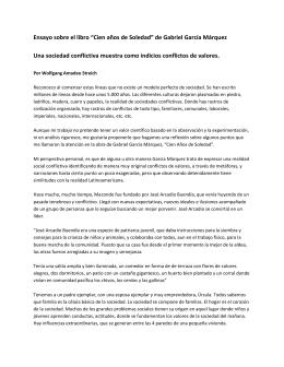 """Ensayo sobre el libro """"Cien años de Soledad"""" de Gabriel García"""