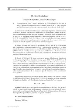 III. Otras Resoluciones - Sede electrónica del Gobierno de Canarias
