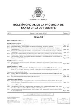 hoy - Boletín Oficial de la Provincia de Santa Cruz de Tenerife