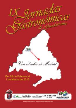 IXJornadasGastronomicas - Oficina de Turismo de Guadarrama