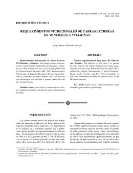 requerimientos nutricionales de cabras lecheras. iii. minerales y