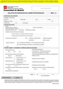 solicitud de expedición de carnés profesionales mod. 1.4