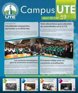 Campus UTE # 59 Abril 2013 - Universidad Tecnológica Equinoccial