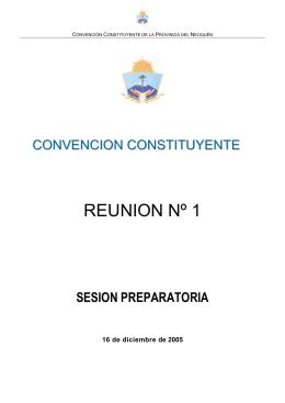 reunión nº1 - Legislatura de Neuquén