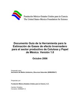 Documento Guía de la Herramienta para la Estimación de Gases de