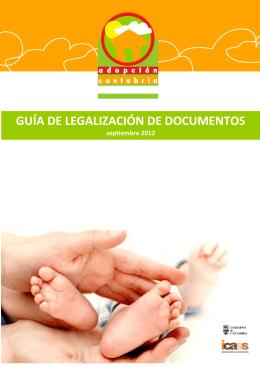 GUÍA DE LEGALIZACIÓN DE DOCUMENTOS