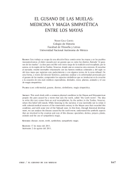 EL GUSANO DE LAS MUELAS: MEDiciNA y MAGiA