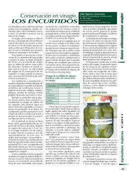 Conservación en vinagre. los encUrtidos