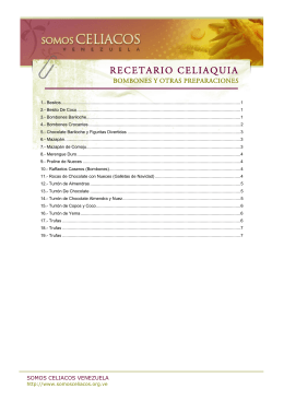 Bombones y otras preparaciones - Fundación Celíaca de Venezuela