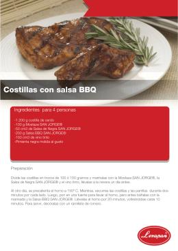 COSTILLAS CON SALSA BBQ
