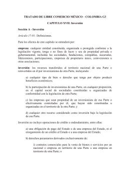 FTA Mexico – Colombia