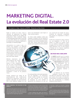 MARKETING DIGITAL. La evolución del Real Estate 2.0
