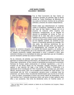 JOSÉ MARÍA FERMÍN GALDIANO Y MENDOZA1 Fue el Real