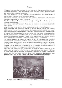 Tarpeya El rapto de las Sabinas. Jacques Louis David. Museo del