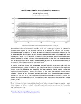 Análisis espectral de los sonidos de un silbato para perros