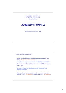 AUDICION HUMANA - Universidad de Cantabria
