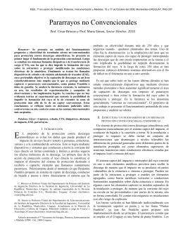PARARRAYOS NO CONVENCIONALES, Cesar Briozzo, María Simon
