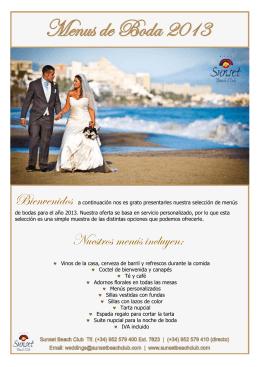Wedding menu ESPAÑOL