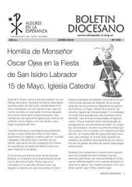 Junio 2013 - Obispado de San Isidro