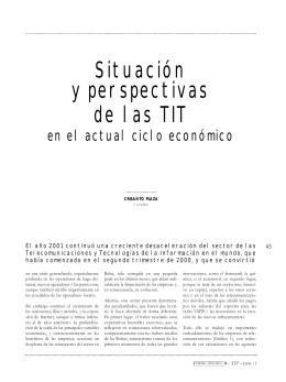 situación y perspectivas de las tit en el actual ciclo económico