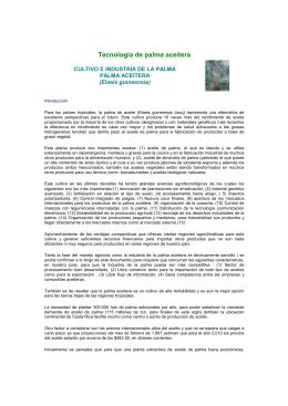 Tecnología de palma aceitera - Ministerio de Agricultura y Ganadería
